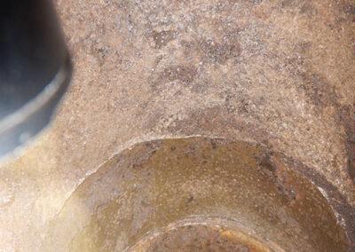 Komín po mechanickém čištění